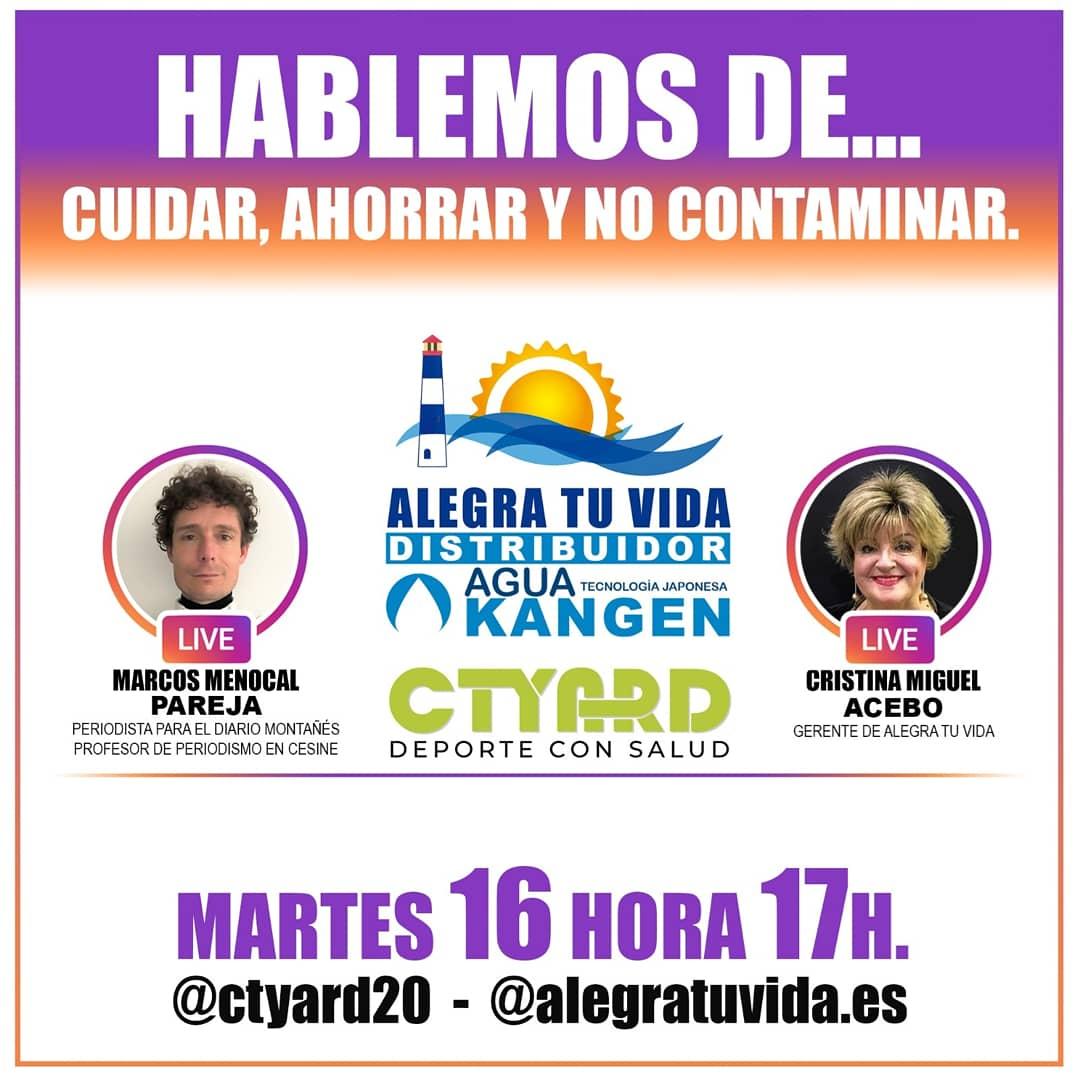 DIRECTO EN INSTAGRAM MARTES16  17:00  @ctyard20  @alegratuvida.es