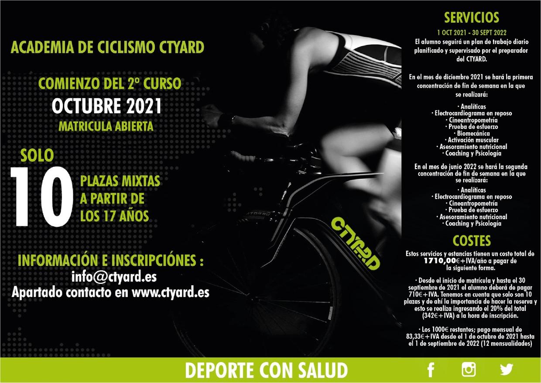 cartel curso cuclismo 2021